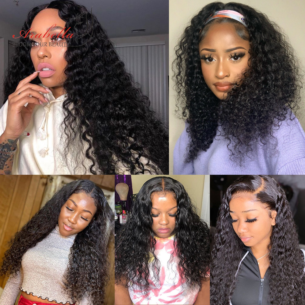 Water Wave Wig 4x4 Closure Wig With Baby Hair  PrePlucked 13x4 Lace Front Wig Arabella  Water Wave Lace Front Wig 5