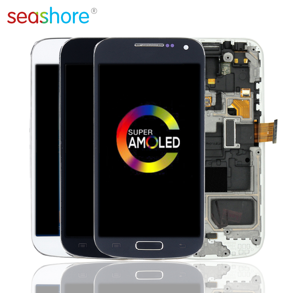 ORIGINAL For SAMSUNG Galaxy S4 Mini LCD Touch Screen Digitizer Assembly For Samsung i9190 Display withFrame Replacement GT-I9190 image