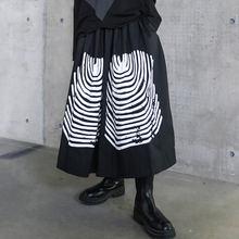 Женская юбка до середины икры xuxi уличная средней длины с принтом