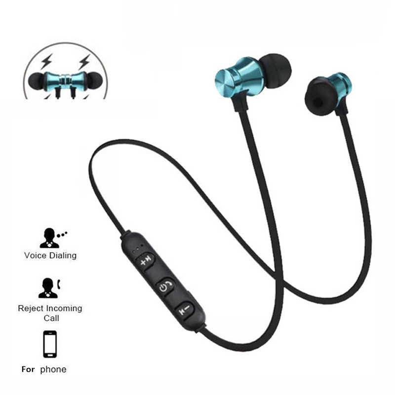 Sport magnete Stereo Auricolare Bluetooth Con HD Il Mic Senza Fili Sport Auricolare Auricolari Per Android IOS