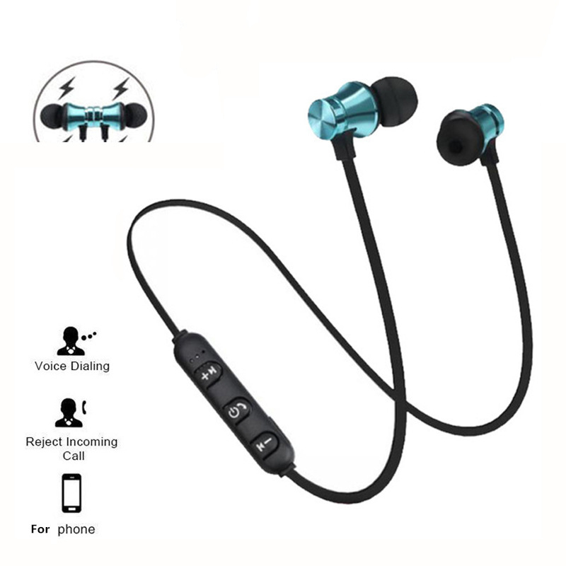 Sports magnet Stereo Bluetooth Earphone With HD Mic Wireless Sport Headset Earbuds For Android IOS image