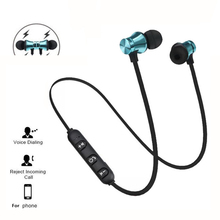 Sports magnet Stereo Bluetooth Earphone With HD Mic Wireless Sport Headset Earbuds