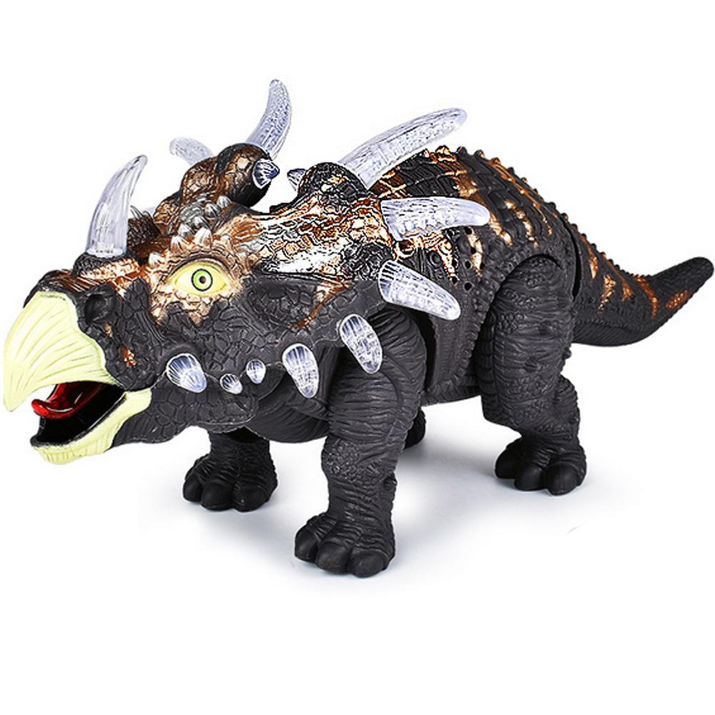Remote Control Dinosaur Triceratops Animal Sounds Dinobot Electric Walking Animals Toy Music Light Toys For Kids Christmas Gift