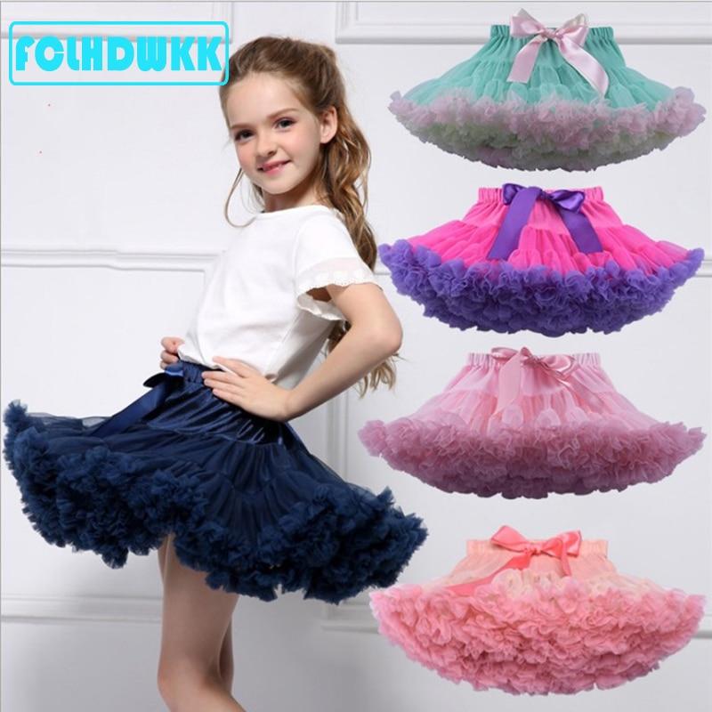 Crianças meninas saia de tule roupas da menina do bebê tutu pettiskirt saia moda menina roupas princesa saias para meninas roupas