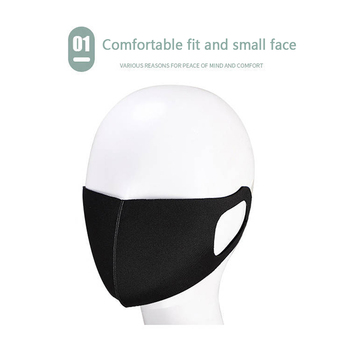 Fashionable Non-disposable Dust-proof Breathable Masks Black 1 Pack Individually Reusable Washable Black Masks 2