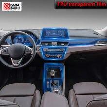 Para bmw f39 f48 x1x2 2016-2020car interior console central transparente tpu película protetora anti-risco reparação filme reequipamento lhd rhd