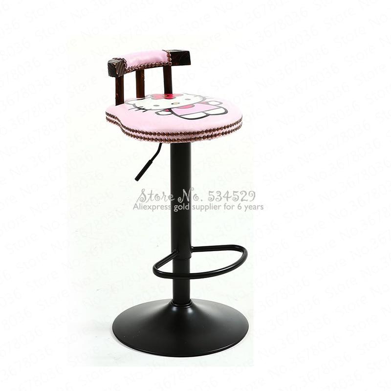 21%New Bar Stool Modern Minimalist Home Wrought Iron High Stool Bar Stool Chair Bar American Lift Stool