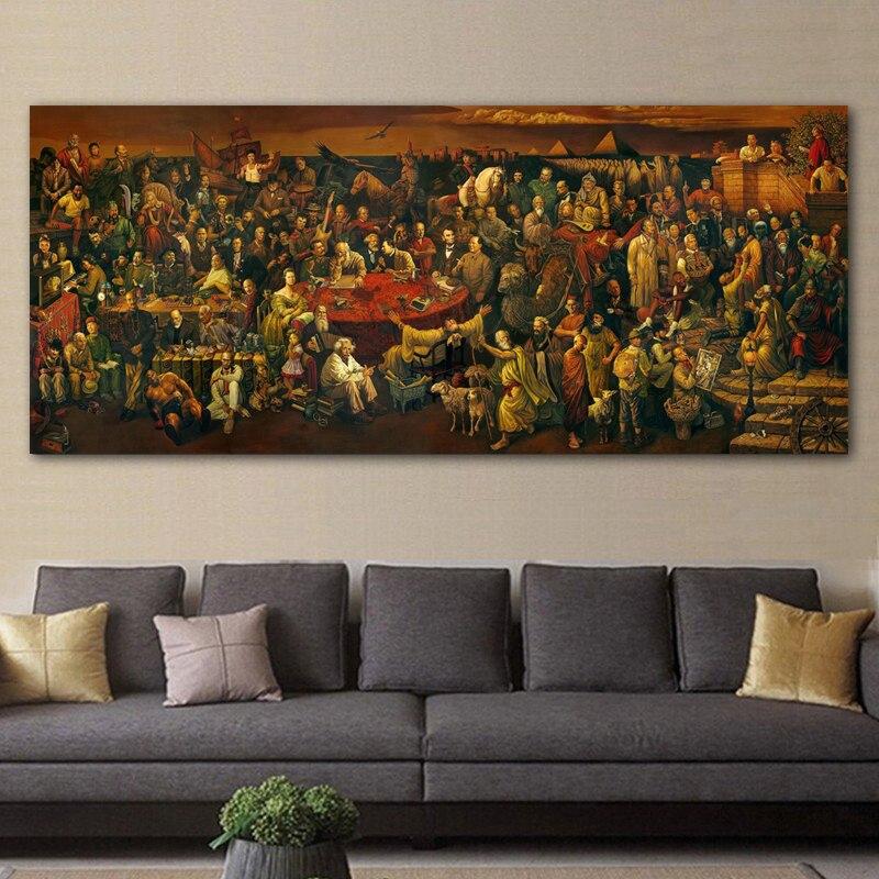 7 88 52 De Réduction Reliabli Art Célèbre œuvre D Art Peinture Sur Toile Discutant De La Divine Comédie Avec Dante Mur Art Photos Imprimer Des