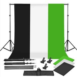 Image 1 - ZUOCHEN خلفية كروما 2 × 2 متر لاستوديو الصور ، أسود ، أبيض ، أخضر ، مجموعة دعم خلفية للتصوير الفوتوغرافي ، فيديو يوتيوب