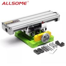 ALLSOME MINIQ BG6350 Multifunzione Trapano Morsa Apparecchio di Tavolo di Lavoro Mini di Fresatura di Precisione Della Macchina Piano di Lavoro HT2747