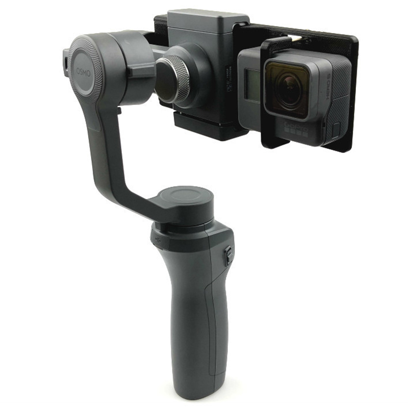 Switch Mount holder Plate For DJI OSMO Mobile 2 1 GoPro Hero Action Camera with Handheld Gimbal