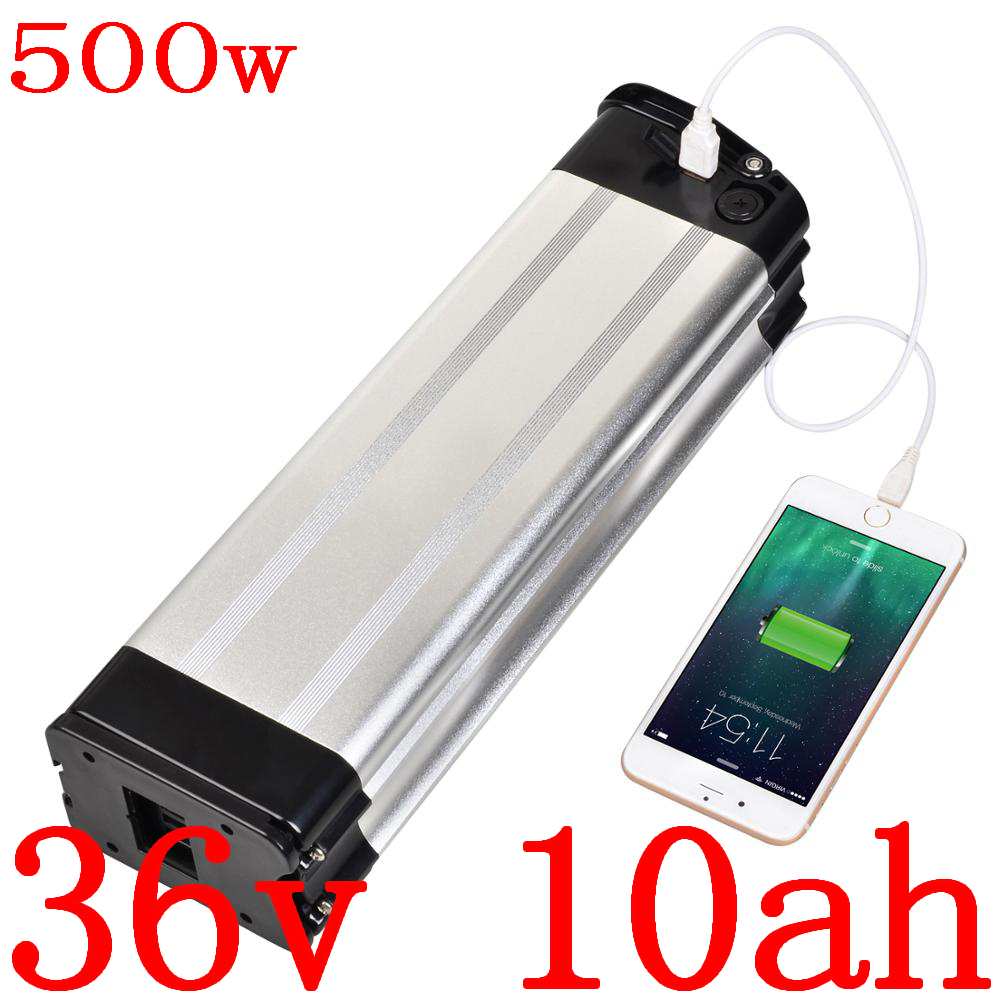 36V 500W battery 36V 10AH Electric Bike Battery 36V 8AH 9AH 10AH 11AH 12AH 12.5AH 13AH 14AH lithium ion battery with 2A charger image