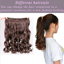 Fiber Synthetic Clip in Hair Extensions for Women