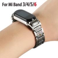 Metall Armband für Mi Band 3 4 5 6 Edelstahl Ersatz Strap für Xiaomi Mi Band 6 nfc Band4 strap Miband 5 Zubehör