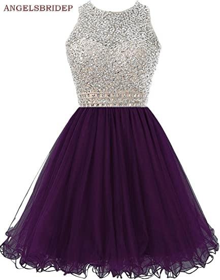 ANGELSBRIDEP-High-Neck-Homecoming-Dresses-Sparkly-Crystal-Beading-Vestidos-de-festa-Tulle-Formal-Graduation-Formal-Party (5)