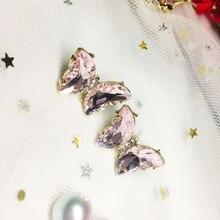 Милые серьги с кристаллами в виде бабочки ювелирные изделия