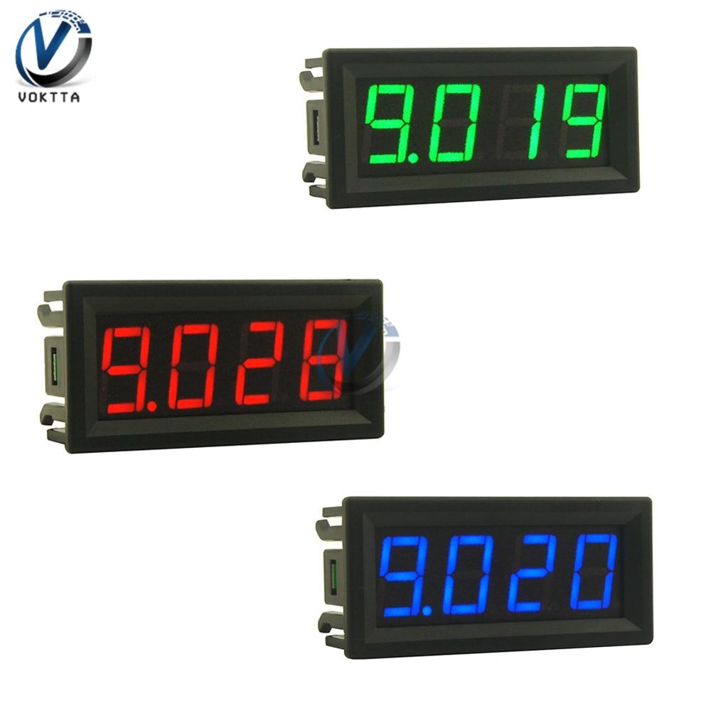 Цифровой вольтметр и амперметр, 0,56 дюйма, 4 бит, светодиодный дисплей, панель, детектор напряжения, измеритель тока, постоянный ток 0-100 в, 0-10 А