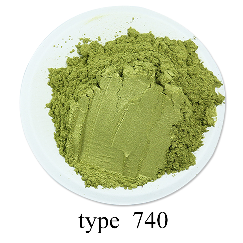 #740 Olive Green Pearl Powder Pigment Acrylic Paint In Craft Art Automotive Paint Soap Eye Shadow 50g Paint Mica Powder Pigment