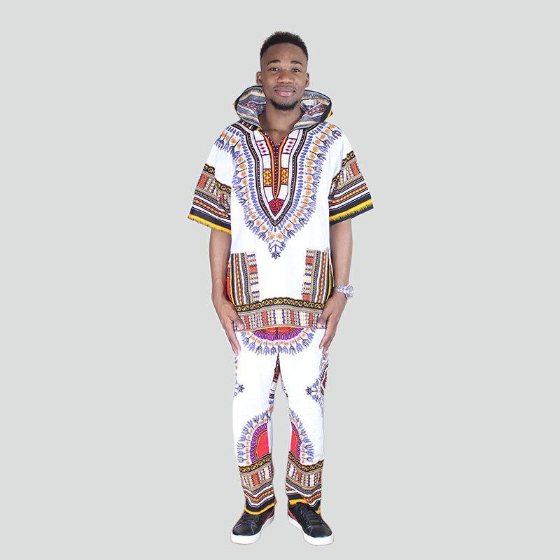 Dashiki Set Top Hippie Unisex Blouse Hoodies And Pants Set Suit With Pockets Nigeria Clothes
