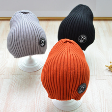 Baby Winter Hat Skullies Beanies Knitted  For Kids Children Caps Cotton Crochet Solid Hair Accessories