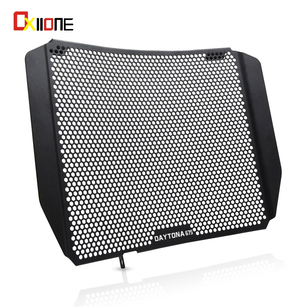 Motorcycle Aluminum Radiator Guard Radiator Grille Protection Cover For <font><b>Triumph</b></font> <font><b>Daytona</b></font> <font><b>675</b></font> 2006-2017 2007 <font><b>2008</b></font> 2009 2010 2011 image