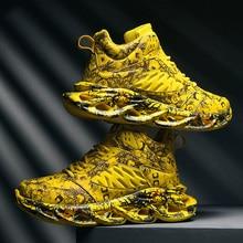 Крутые мужские баскетбольные туфли, амортизирующие дышащие повседневные спортивные туфли, нескользящие спортивные уличные кроссовки для бега