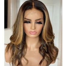 Maylaysia destaque loira 13*4 frente do laço perucas de cabelo humano para preto mulher 180 densidade pré arrancadas perucas frontal do laço para mulher