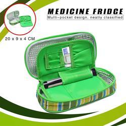 2-strato di Medicina Portatile Insulina Per Diabetici di Raffreddamento Del Sacchetto di Raffreddamento Del Ghiaccio Sacchetto del Pacchetto Custodia Da Viaggio Custodia Da Viaggio Scatola del dispositivo di Raffreddamento di Alluminio sacchetto di ghiaccio