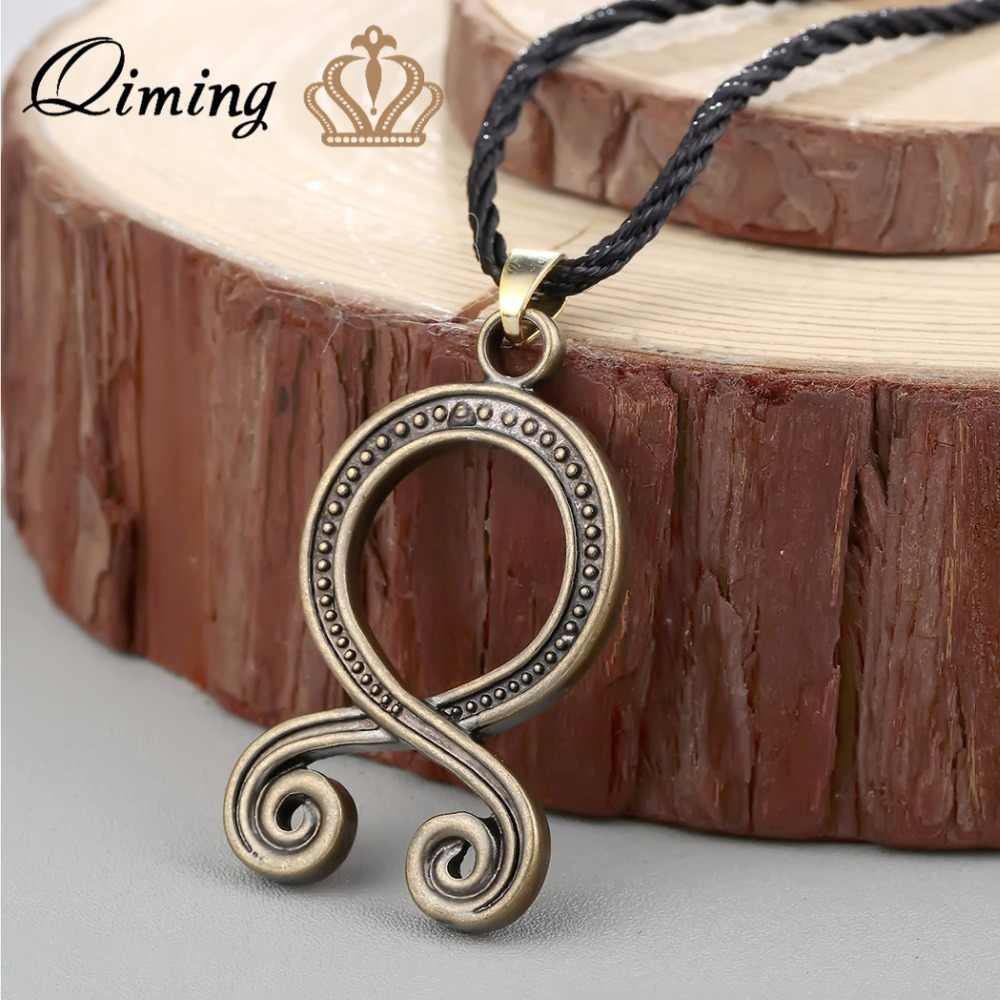 QIMING Troll Cross Vintage Mannen Ketting Voor Vrouwen Vikings Bescherming Pagan Noorse Hanger Zweedse Folklore Amulet Indian Sieraden