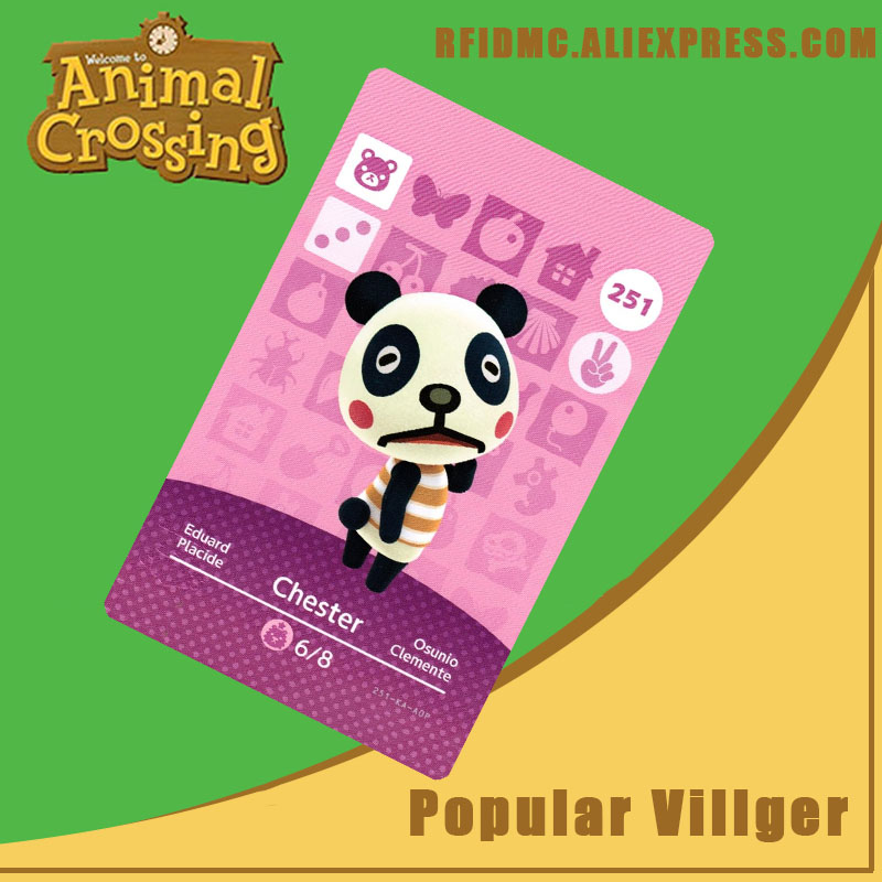 251 Chester Animal Crossing Card Amiibo For New Horizons