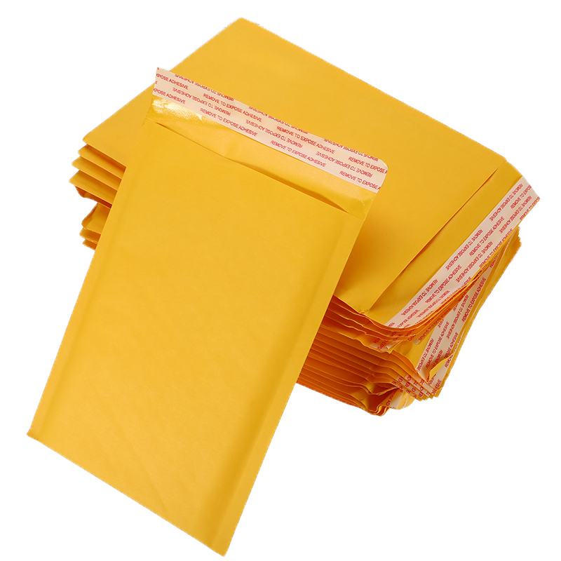 10Pc/lot Thickened Kraft Paper Bubble Envelopes Bags Mailers Padded Shipping Envelope With Bubble Mailing Bag Business Supplies