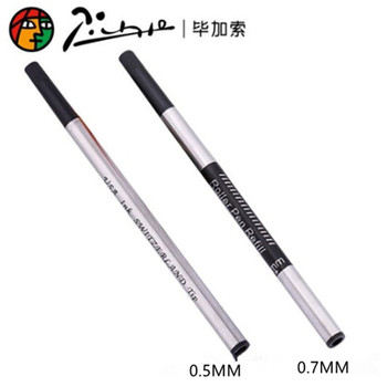 more than gel pen refill writes smoother ball pen refill capacity sufficient tip wear can be applied to most roller pen Picasso Pimio Switzerland Tip Roller Ball Refill 0.5mm 0.7mm Screw Type Roller Pen Refills Black Ink refill 10pcs/lot