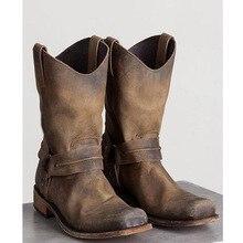 38-48 Work Shoes Winter Boots Men Big Size Plush Warm Winter Shoes Men Brown Vintage Men Boots Safety Shoes SA-8