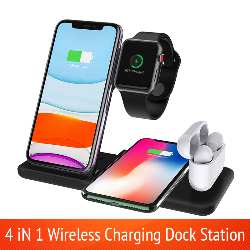 4-in-1-Wireless-Charger-Stand-For-iPhone-11-Pro-XS-XR-X-8-10W-Fast