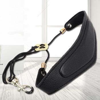 SLADE Adjustable Saxophone Sax Leather Harness Shoulder Strap Belt High Quality Sax Neck Straps with Hook Clasp Saxophone Parts