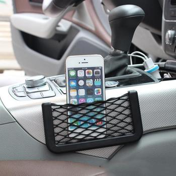 New hot sale Multifunctional Durable Easy Mount Mesh Net Car Storage Bag Holder for Phone Cash Card image