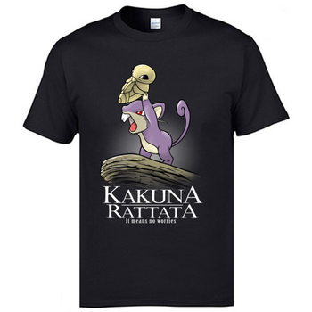 Kakuna Rattata Kakuna Matata Casual Tops & Tees The Lion King Pokemon Game Tshirts Christmas Funny Family T Shirt Pure Cotton