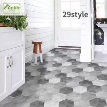 Funlife® Grunge Retro Hexagon Floor Sticker Waterproof Anti-Slip Self-Adhesive for Ground Bathroom Kitchen Camper Home Decor
