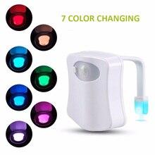LED Human Motion Sensor Activated Toilet Light Smart PIR Motion Sensor Toilet Seat Light WC Emergency Light