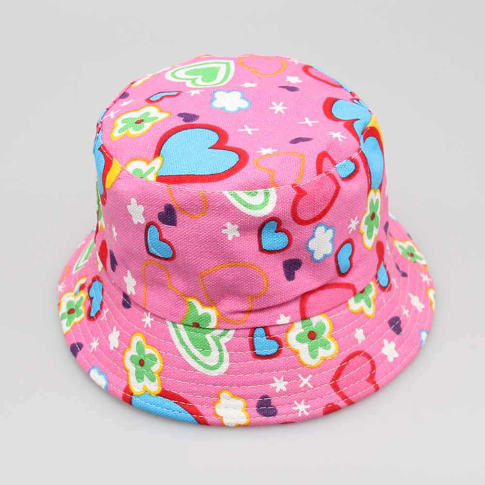 2020 niño bebé niños niñas tapa Floral patrón sombreros de cubo casco protector de sol gorra sombreros para bebé niña y sombreros шапка женская
