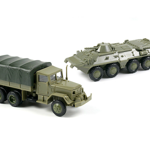 1:72 M35 Truck Soviet BTR-80 Wheeled Armored Vehicle Rubber-free Assembly Model Kit Military Car Toys For Children Boy Kids Gift