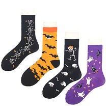 Милые повседневные носки для мужчин и женщин с веселым рисунком
