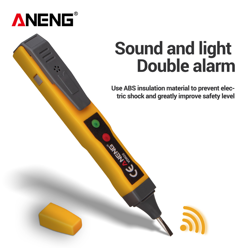 ANENG VD806 AC/DC  Non-contact Voltage Detector Electric Pen Tester Continuity Battery Test Pencil With Sound Light Alarm