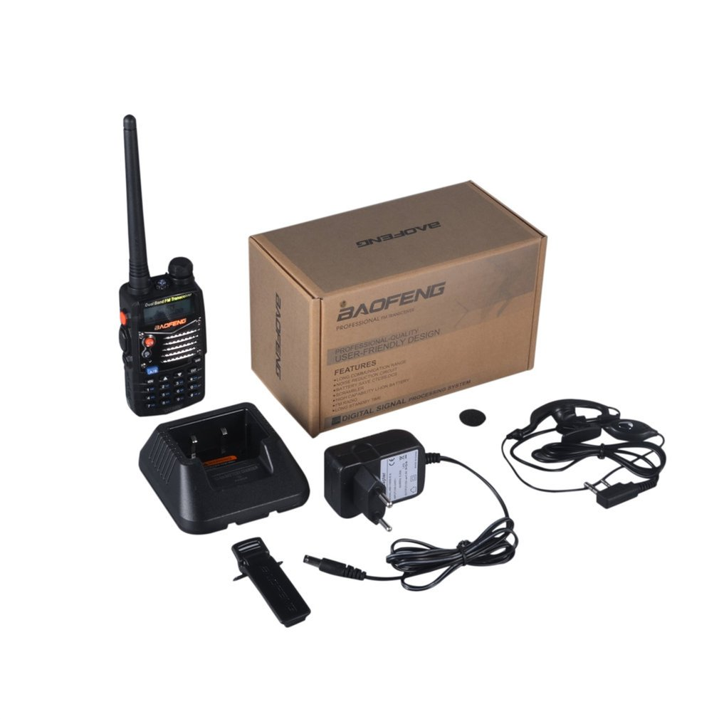 UV-5RA Professional Hand-held Transceiver FM Radio Receiver Walkie-talkie Interphone Scanner Dual Band EU Plug Dual-Standby