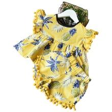 Baby Girls Clothes Kids Set Fashion Bow Short Sleeve T-shirt +pant Clothing Cartoon 40