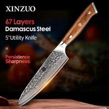 XINZUO-cuchillo japonés VG10 Damasco de 5