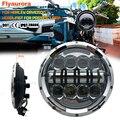 Flyaurora круглый светодиодный прожектор-Фара водонепроницаемая лампа для мотоцикла светодиодная фара 7 дюймов ведро