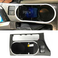 Voor Toyota Corolla Levin 2014 2018 QI draadloze oplader mobiele telefoon houder snelle opladen lade water cup cover trim accessoires