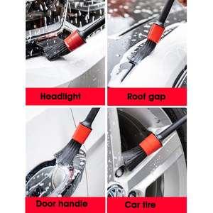 Image 4 - Brosses de nettoyage de voiture 5 pièces, brosses de nettoyage de voiture, tableau de bord, espace de climatisation, outils de nettoyage automobile