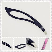 1PC Black Color Eyebrow Tweezer Hair Beauty Slanted Puller Stainless Steel Eye Brow Clips Makeup Tool Brand New